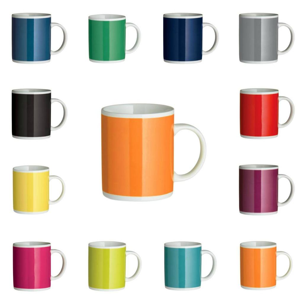 Block Colour Tea Coffee Mug Cup Carton of 48 Porcelain Mugs 11oz 312ml Catering