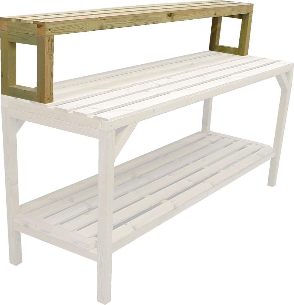 greenhouse staging bench wooden 6ft uppershelf 10 quot wide
