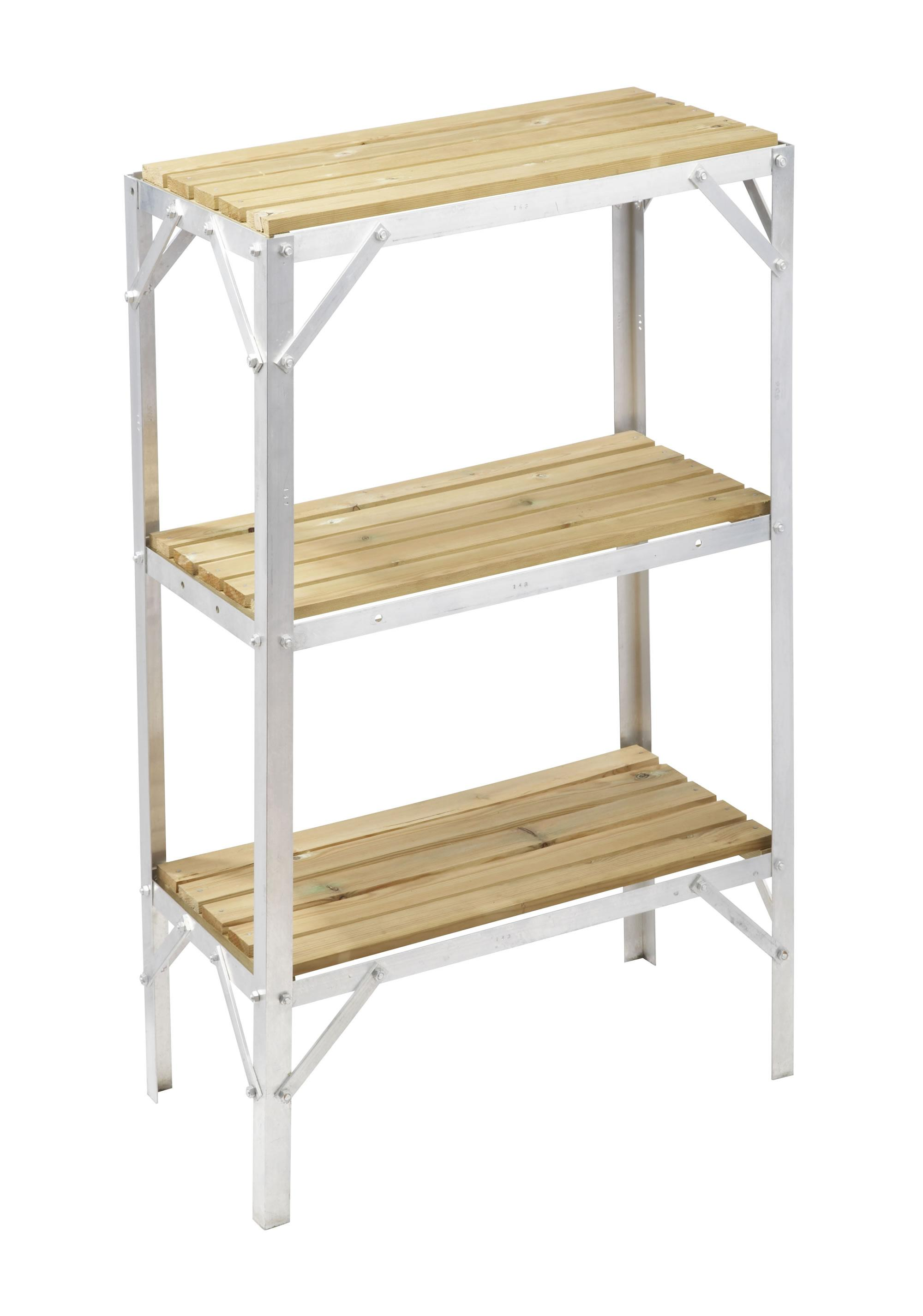 Greenhouse staging bench wooden three tier 1ft wide x - Wooden staging for greenhouse ...