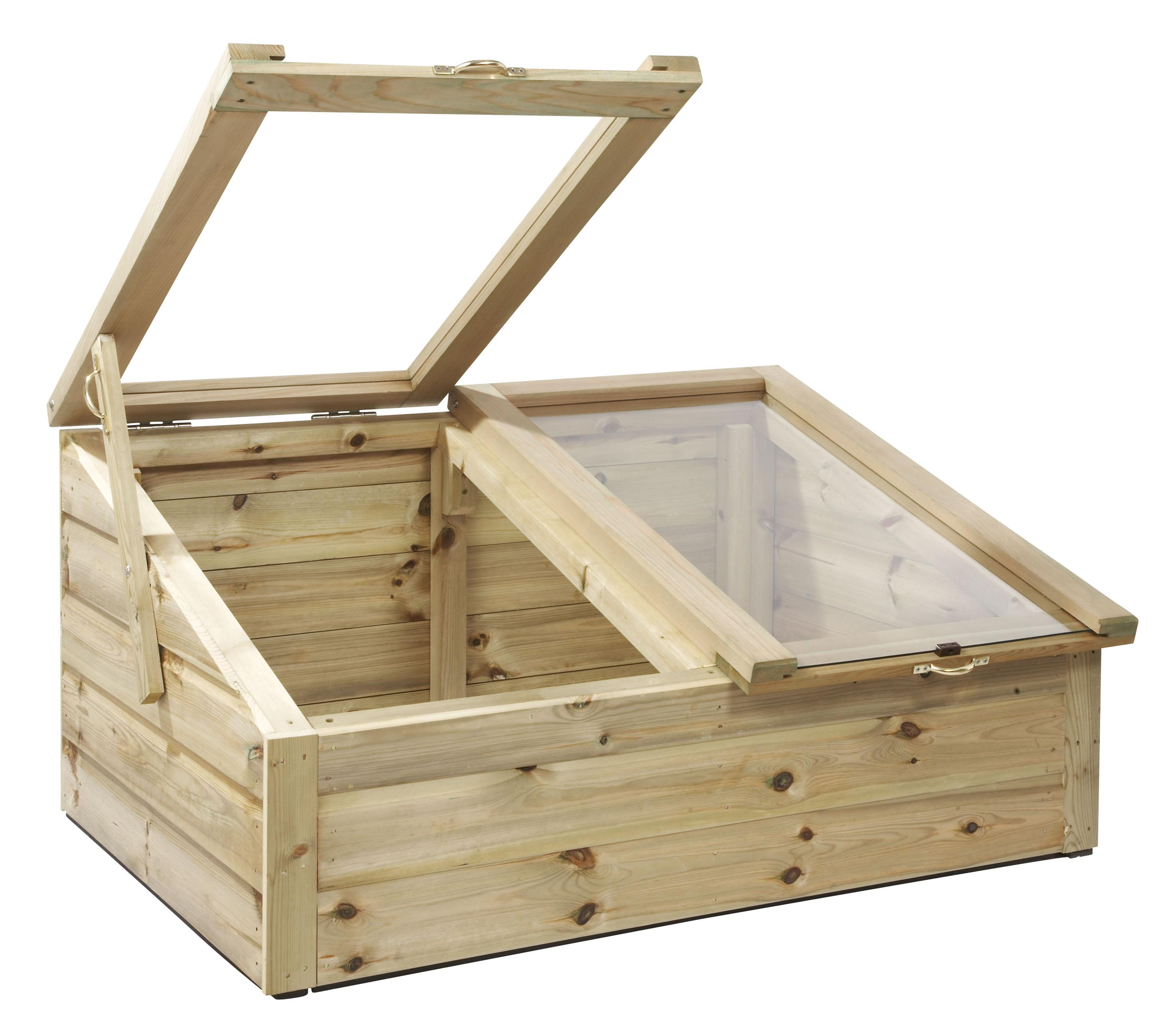 Tanalised wooden cold frames 3ft x 5ft mini greenhouse ebay for Small wooden greenhouse plans