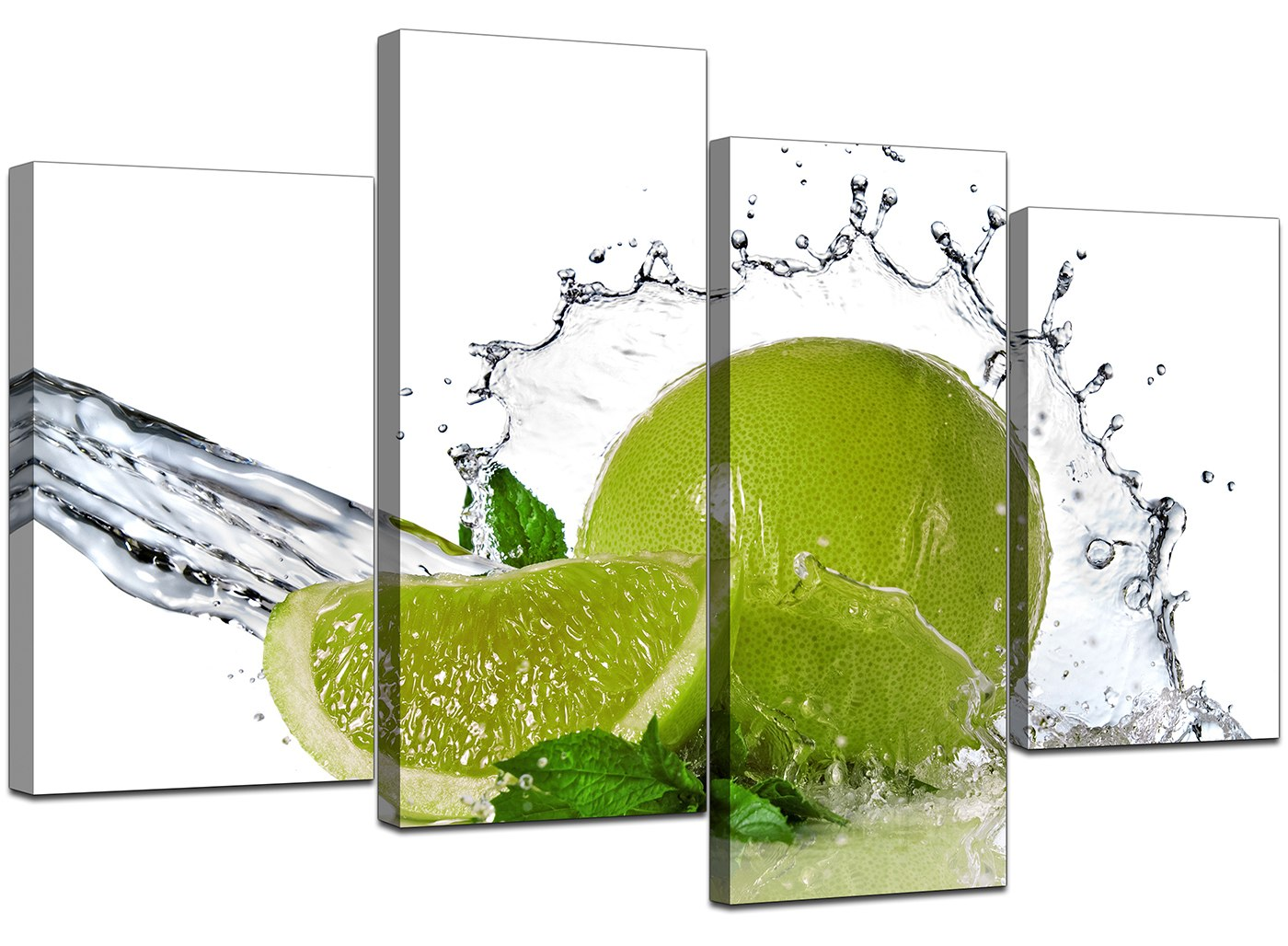 Large lime green kitchen canvas wall art pictures 130cm xl - Kitchen canvas wall decor ...