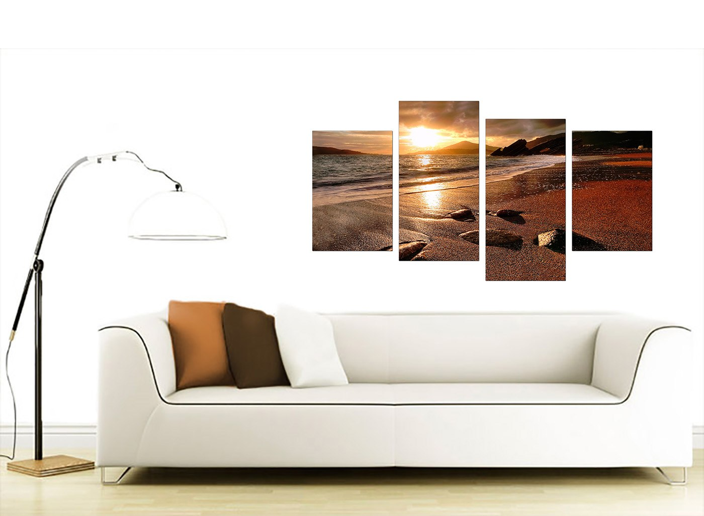 Large Sunset Beach Canvas Wall Art Pictures Living Room Prints XL 4131 EBay