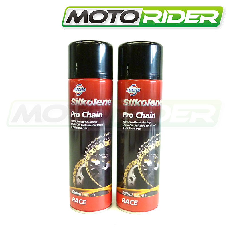 Motorcycle Motorbike Silkolene Pro Synthetic Chain Lube 2x 500ml Road & Race