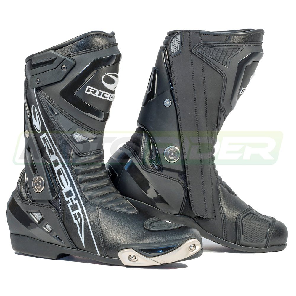 richa waterproof leather motorcycle boots in black eu 41