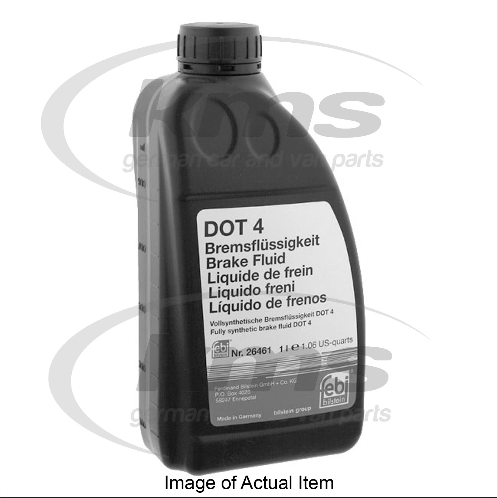 brake fluid dot 4 1 litre audi a6 estate tdi quattro avant c6 2004 2012 3 0l. Black Bedroom Furniture Sets. Home Design Ideas