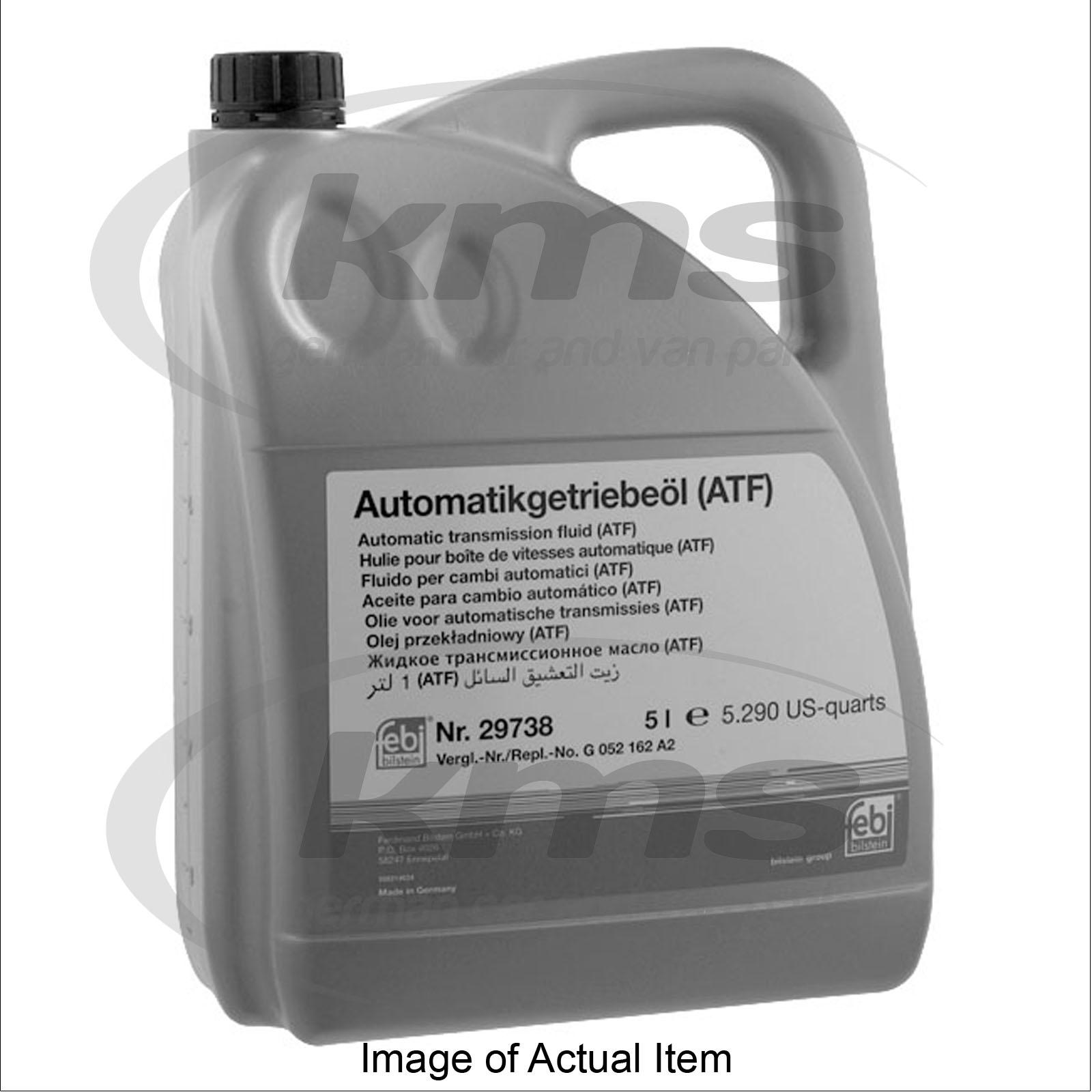 ATF FLUID 5 LITRES Audi A4 Saloon TFSi Quattro B7 (2004