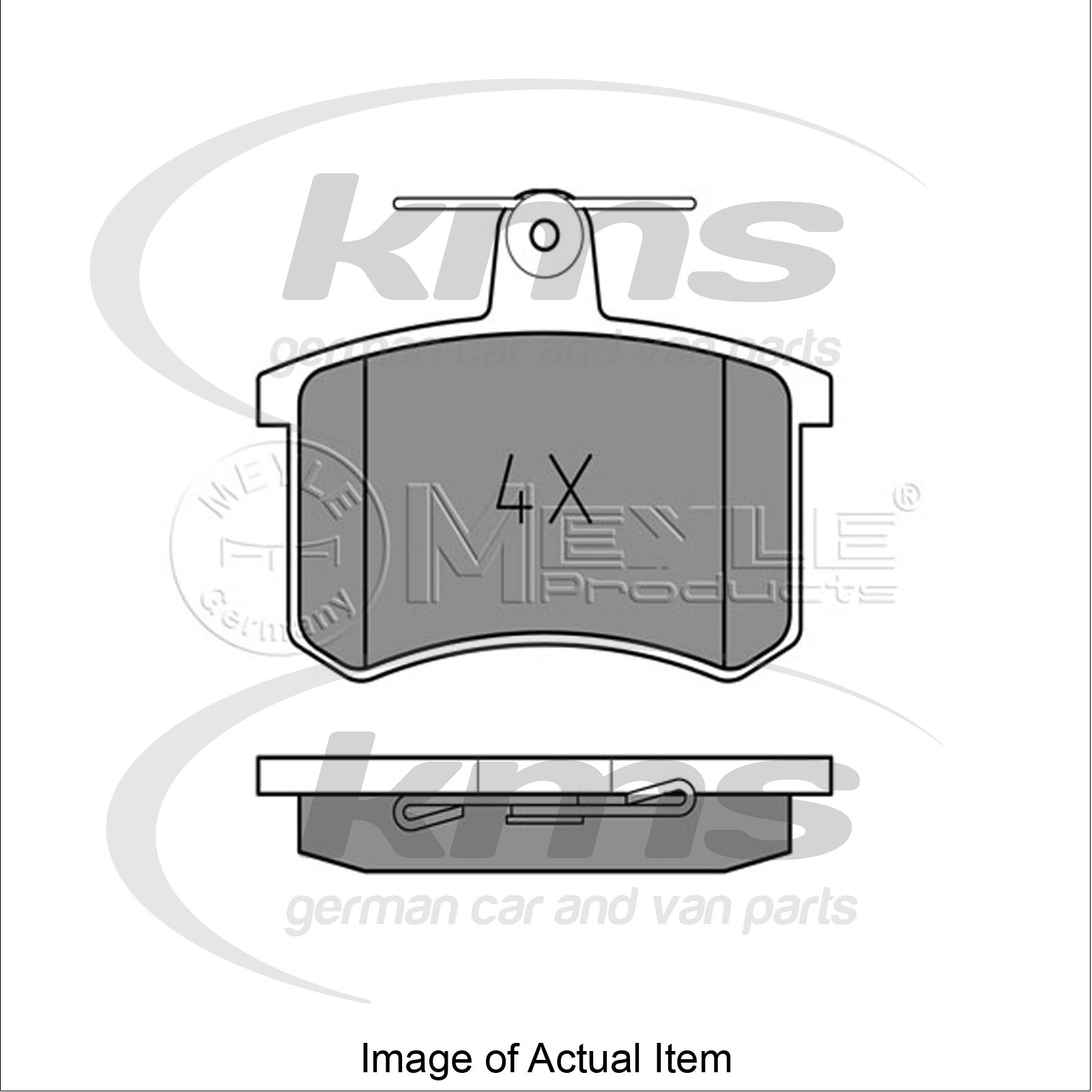 brake pad set for disc brake audi a4 estate 8d5 b5 1 9 tdi 75bhp top german q ebay. Black Bedroom Furniture Sets. Home Design Ideas