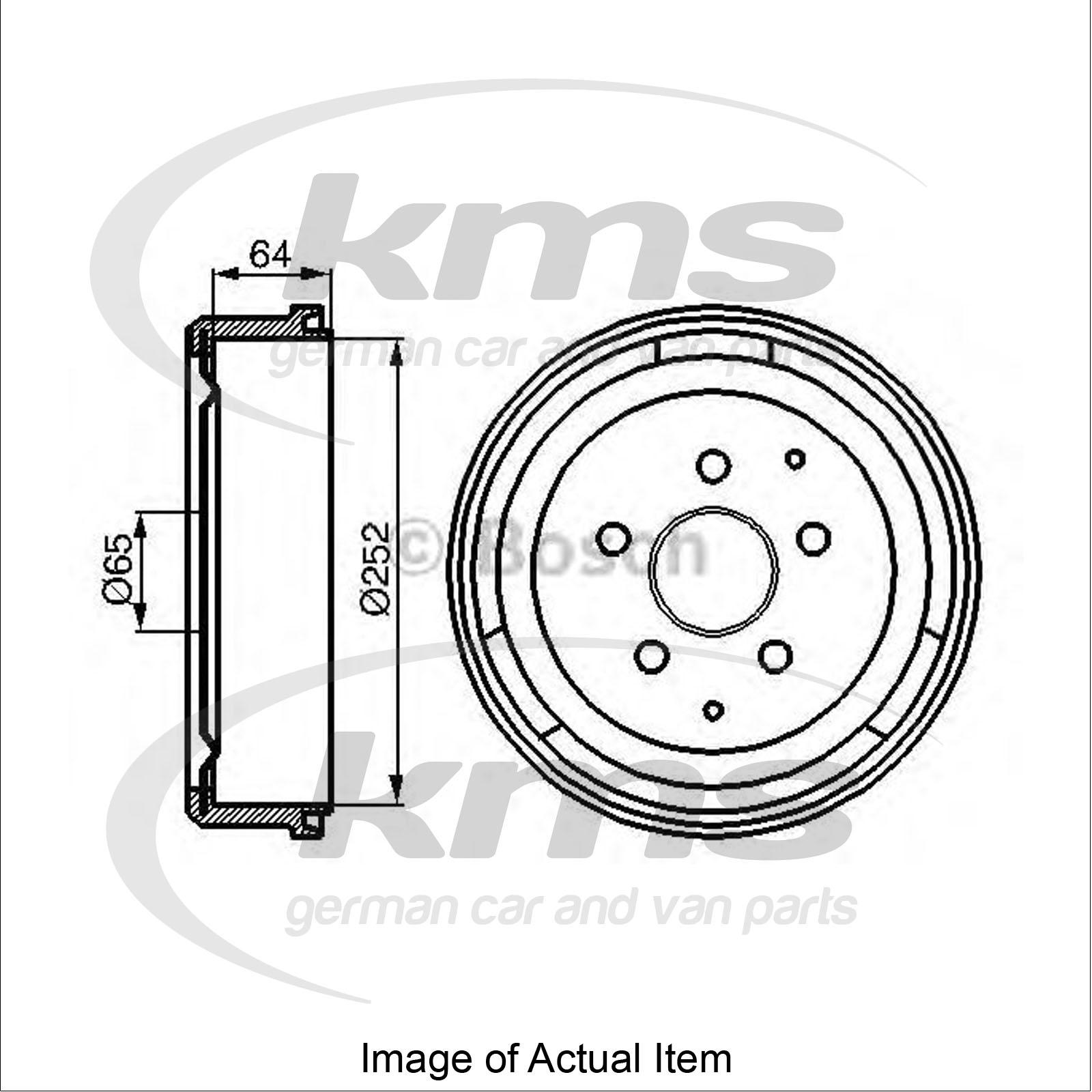 brake drum vw transporter mk iii platform  chassis 1 9