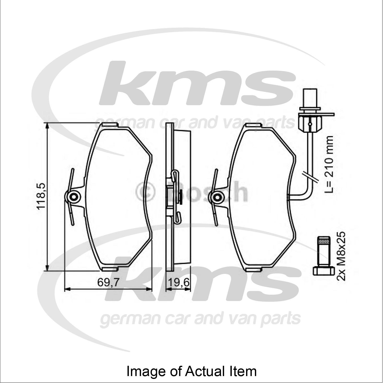 brake pad set for disc brake audi a4 avant  8ed  b7  2 0