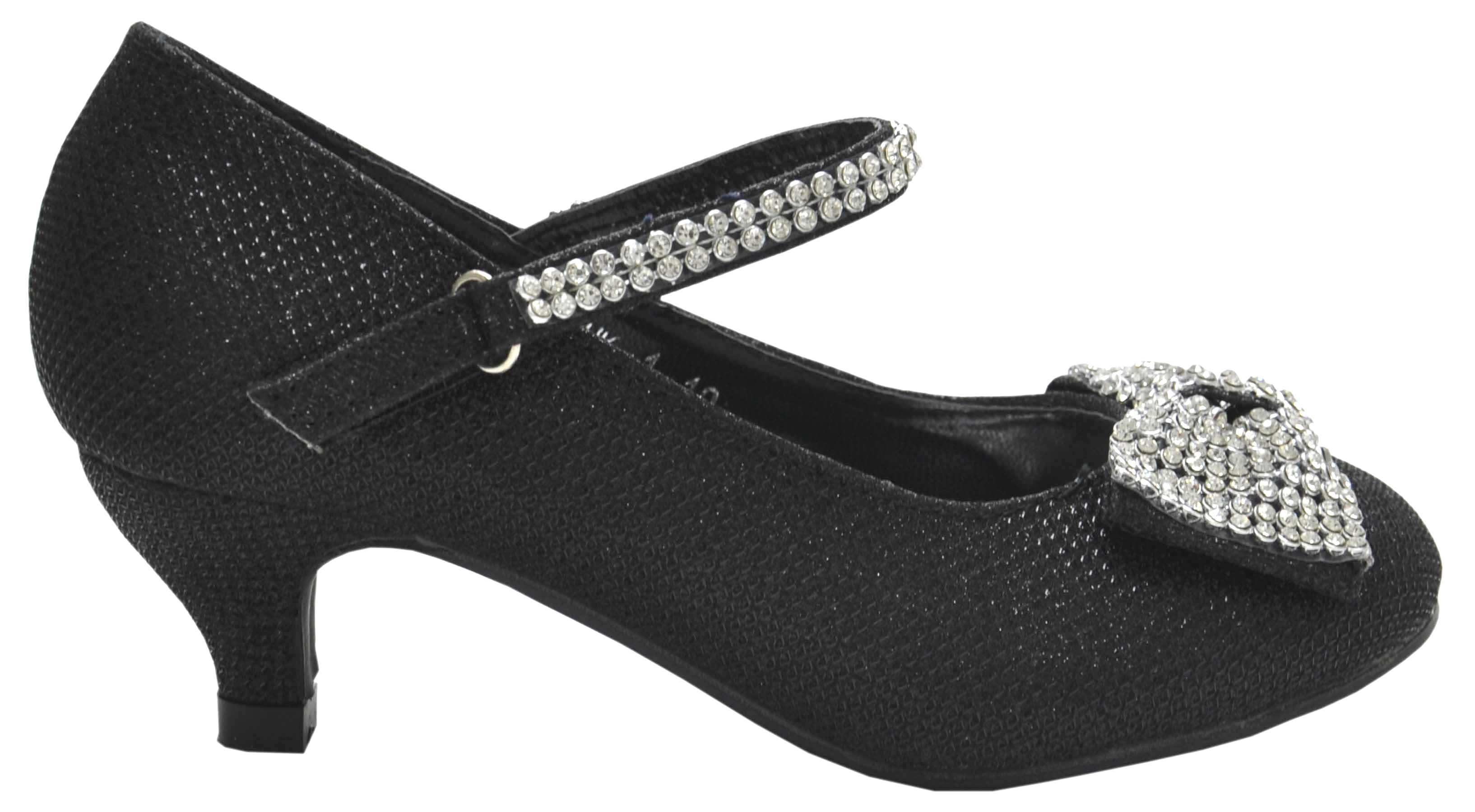 Kid Shoes Silver Size E With Heel