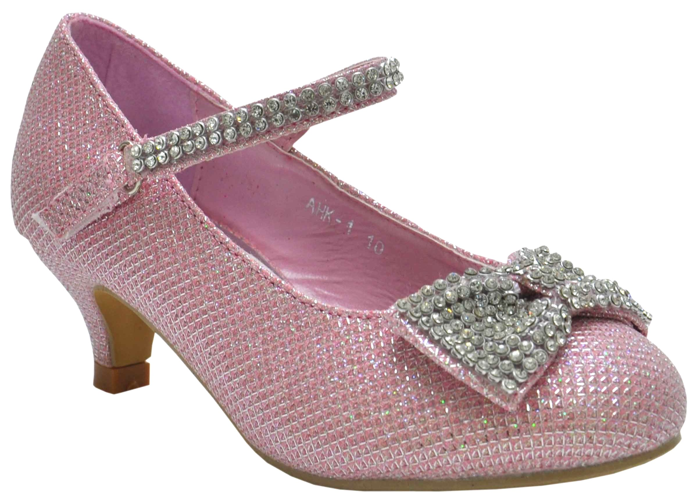 Small Heel Glittery Shoes Size
