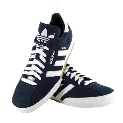 original adidas samba schuhe sneaker im retro look wildleder blau gr 41 46 ebay. Black Bedroom Furniture Sets. Home Design Ideas
