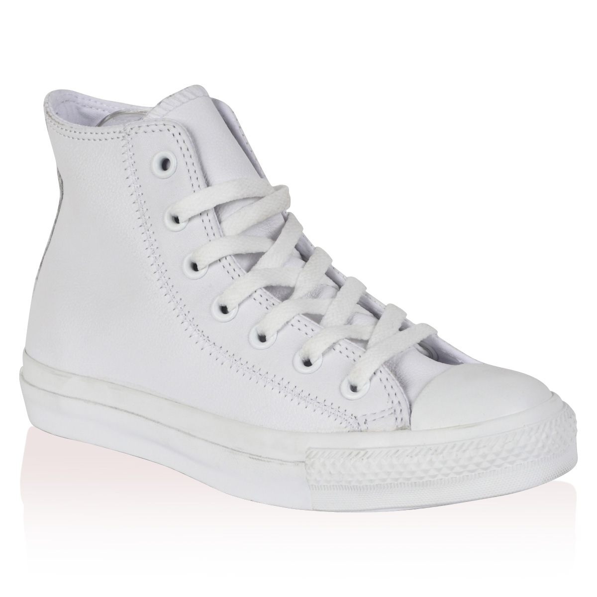unisex converse all mens womens white leather hi top
