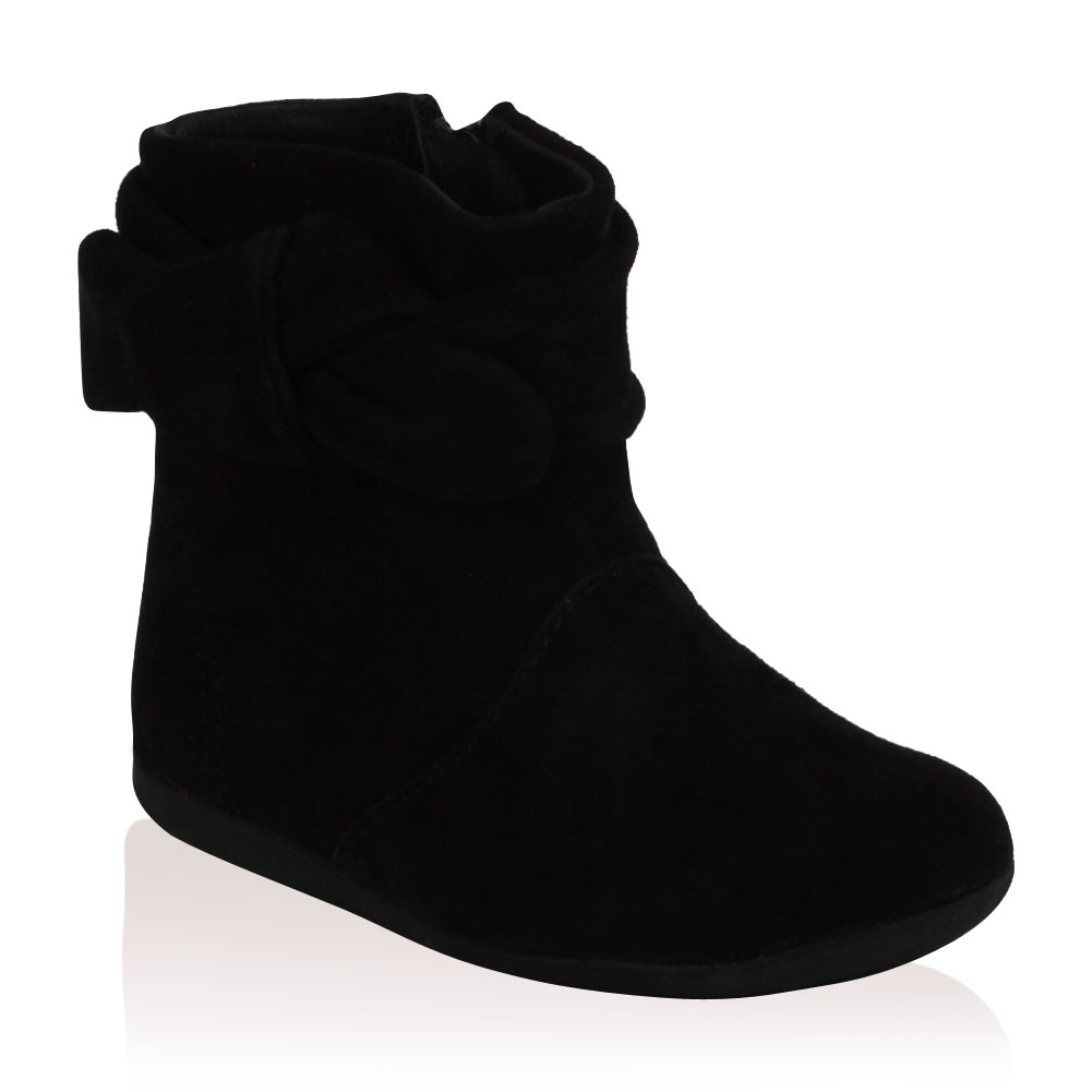 new babys girls toddlers zara black suede flat ankle boots