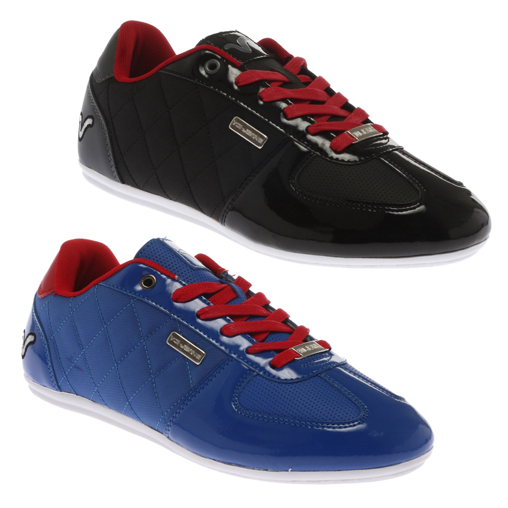 MENS VOI JEANS MURANO CASUAL QUILTED LACE UP SPORTS TRAINERS SHOES SIZE 6-12