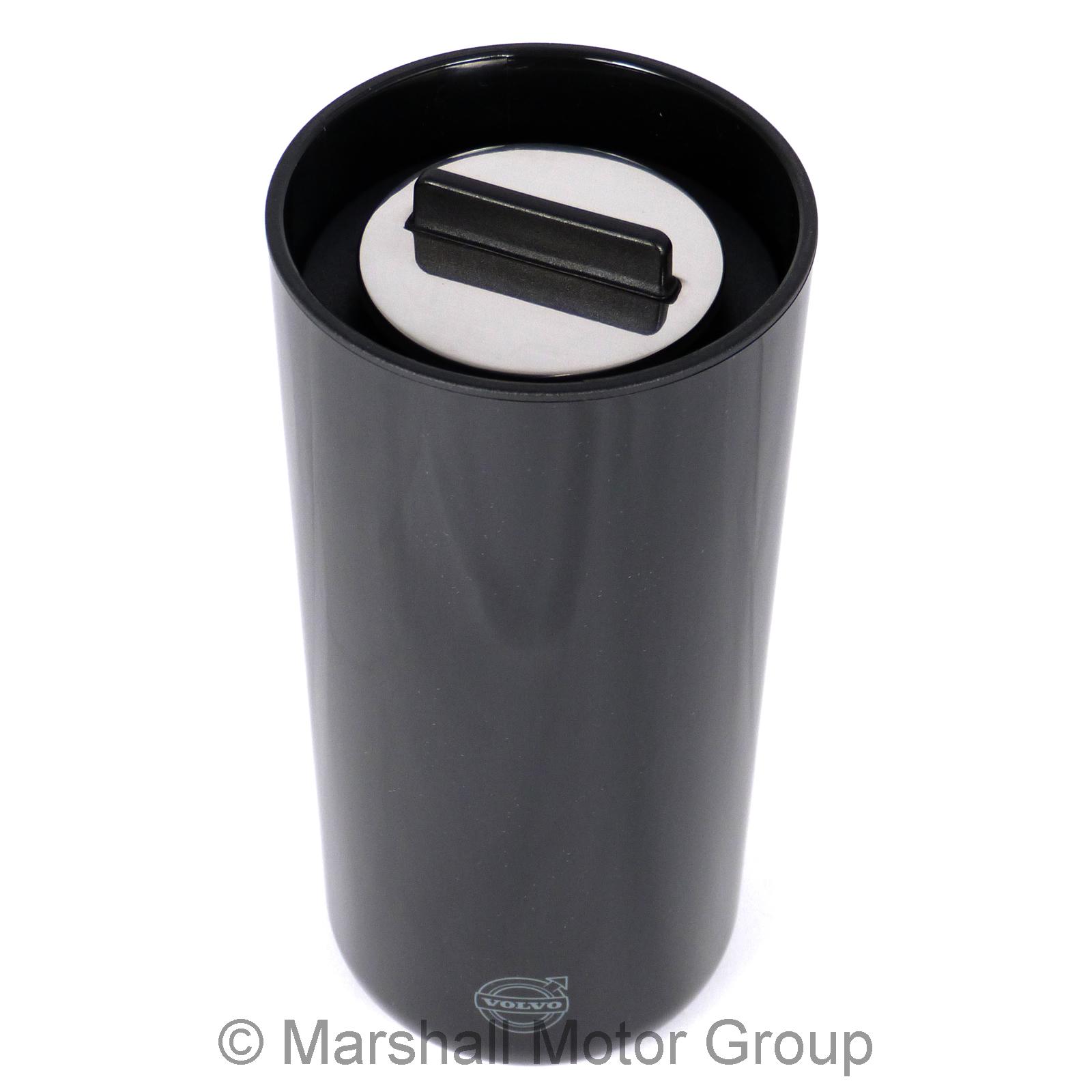 genuine volvo stelton thermo becher zum go in schwarz ebay. Black Bedroom Furniture Sets. Home Design Ideas