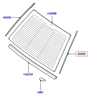 v ritable range rover rh boot arri re couvercle joint de. Black Bedroom Furniture Sets. Home Design Ideas