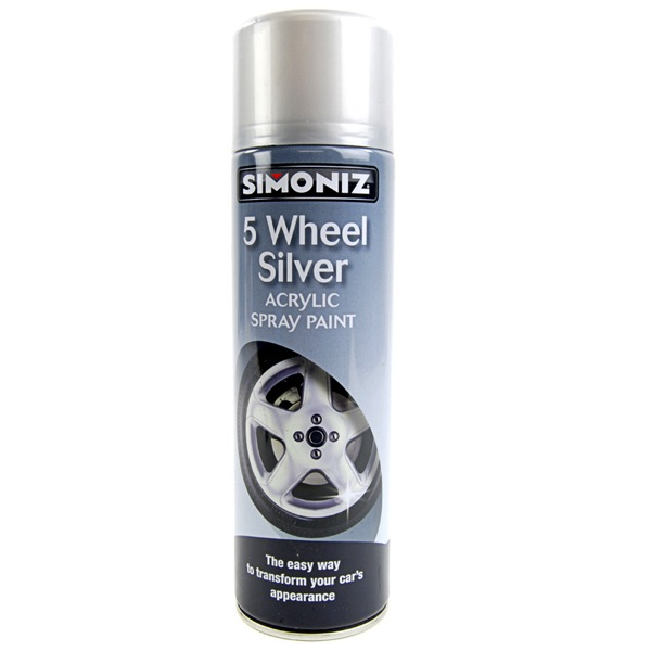 simoniz 5 wheel silver 500ml paint for alloy rims re spray. Black Bedroom Furniture Sets. Home Design Ideas