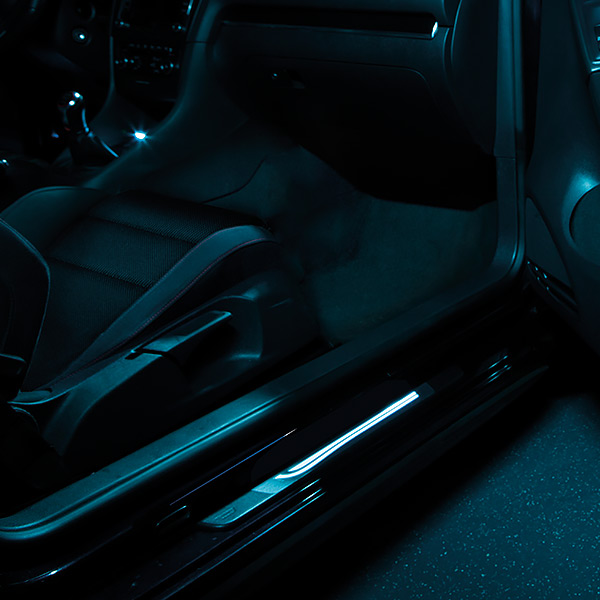 osram led door sill illumination ambient lighting. Black Bedroom Furniture Sets. Home Design Ideas