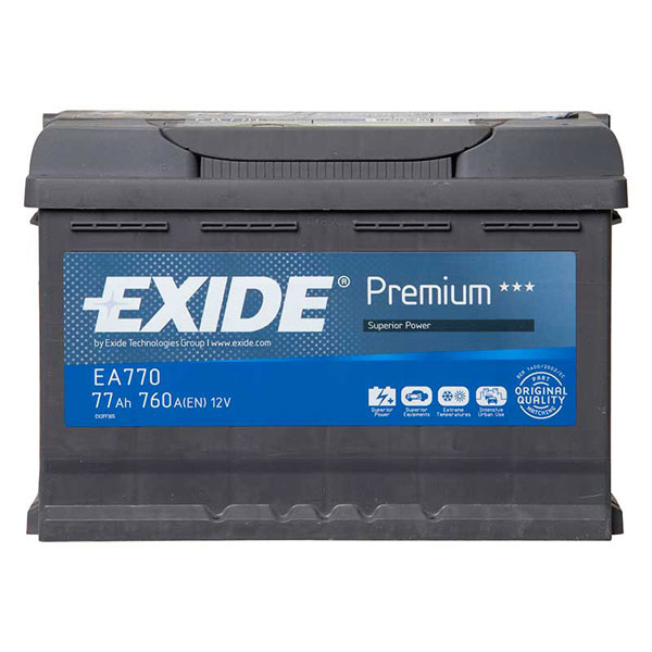 exide premium car battery 77ah type 096 760cca 4 years warranty oem replacement ebay. Black Bedroom Furniture Sets. Home Design Ideas