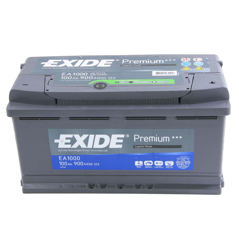 4 years wty exide premium car battery 12v 100ah type 017 900cca oem replacement ebay. Black Bedroom Furniture Sets. Home Design Ideas
