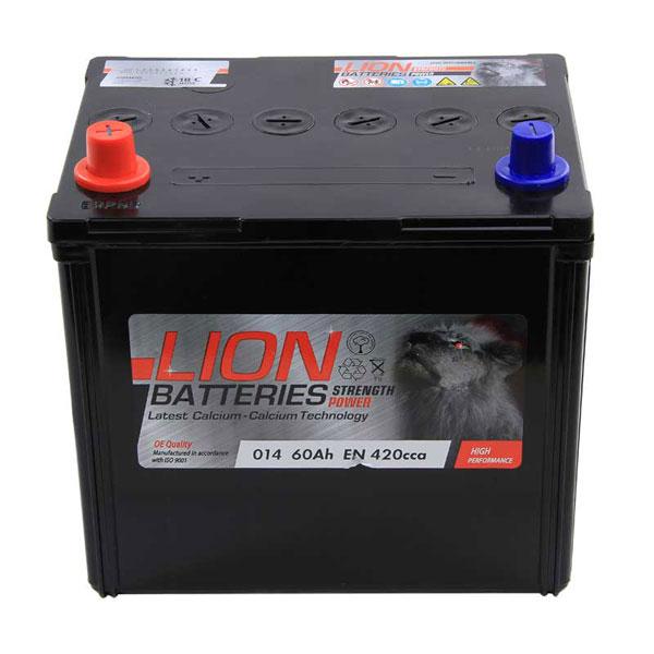 Type 014 Car Battery 420CCA 3 Years Warranty Lion