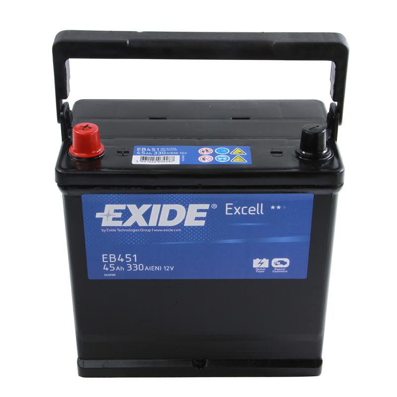 type 049 car battery 330cca exide excell 12v 45ah 3 years. Black Bedroom Furniture Sets. Home Design Ideas