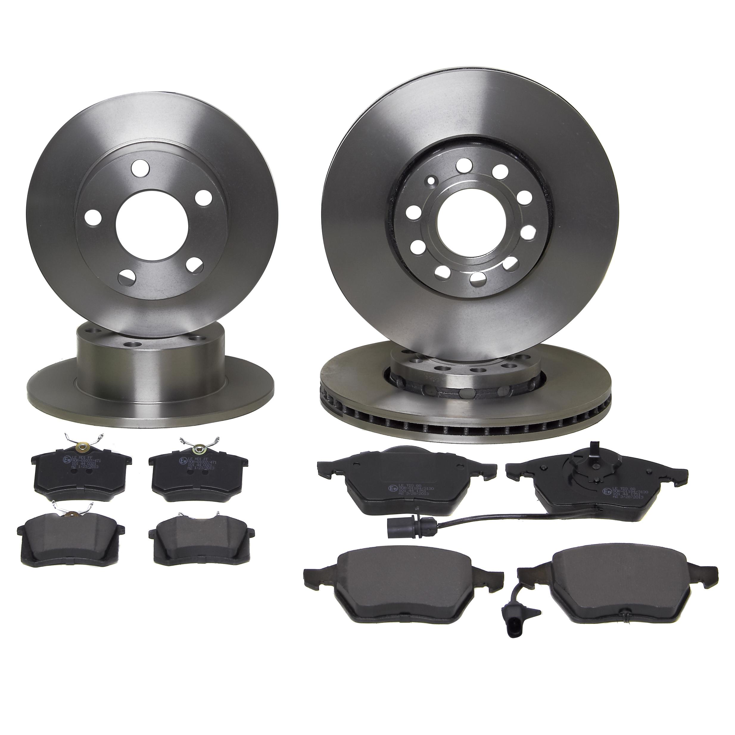 vw passat 1 9 tdi 96 05 eicher front rear brake kit discs pads ebay. Black Bedroom Furniture Sets. Home Design Ideas