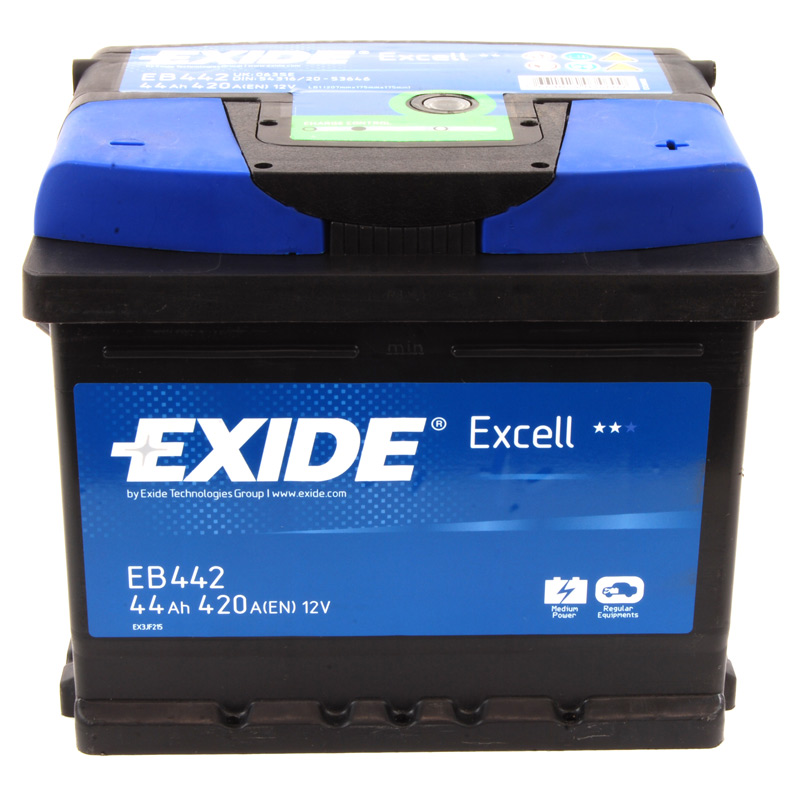 exide excell car battery 12v 44ah type 063 420cca 3 years. Black Bedroom Furniture Sets. Home Design Ideas