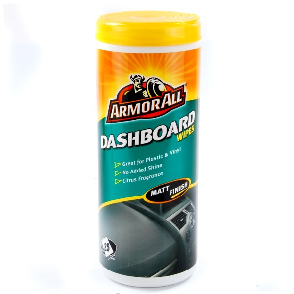 armor all dashboard wipes in matt pack of 25 wipes interior car cleaning shine ebay. Black Bedroom Furniture Sets. Home Design Ideas