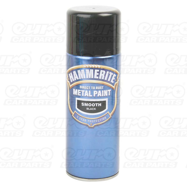 Hammerite ham5092965 smoothrite metal paint smooth black 400ml aerosol spray can ebay Black metal spray paint