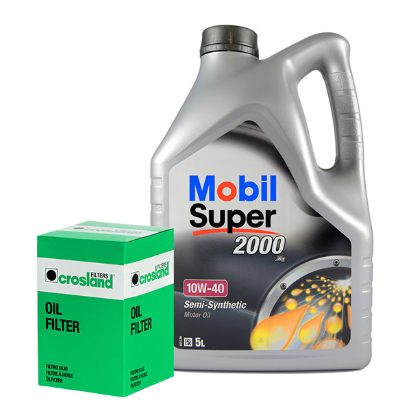Mobil Super 2000 X1 10w40 Engine Oil 5l And Oil Filter