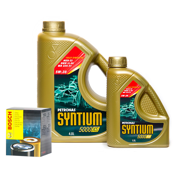 petronas syntium 5000 xs 5w30 engine oil 5l and oil filter service kit. Black Bedroom Furniture Sets. Home Design Ideas