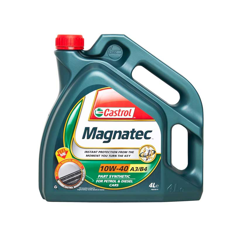 Castrol magnatec 10w40 part synthetic car engine oil 4l 4 for Motor oil guide for cars