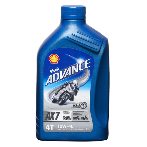 Motorcycle Engine Oil Shell Advance 4t Ax7 Sae 10w40 Semi