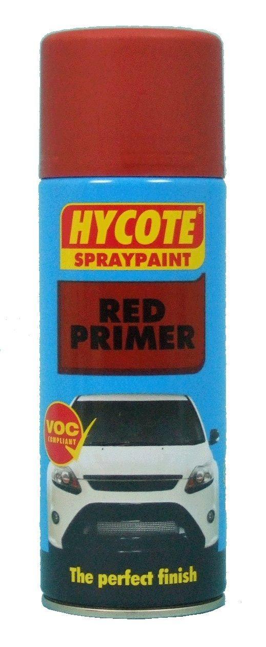 Hycote Aerosol Spray Paint 400ml Red Garage Workshop Equipment Durable Finish