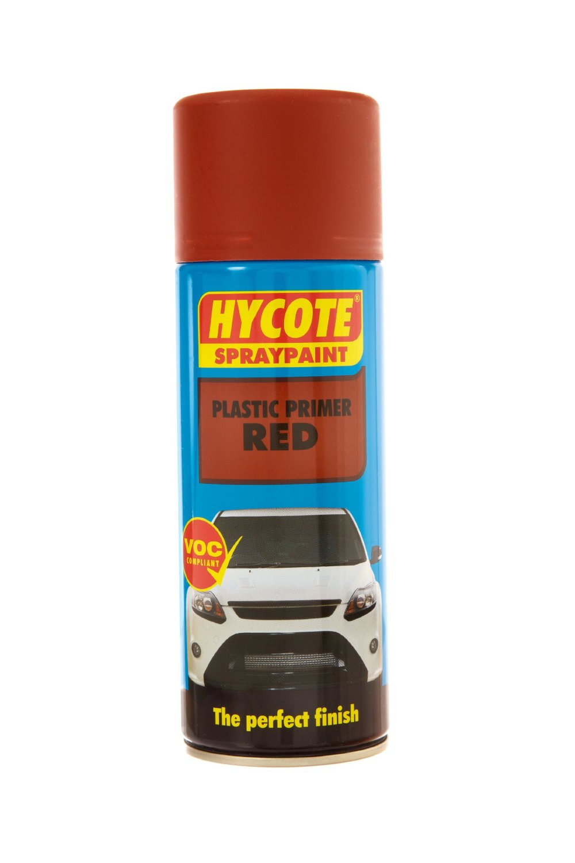 Hycote Plastic Primer Aerosol Spray Paint 400ml Red Tough Durable Finish Garage Ebay