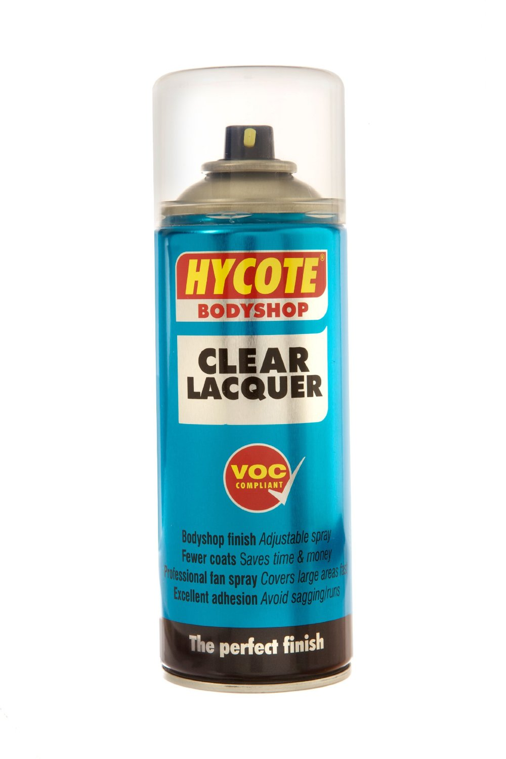 Hycote Body Shop Clear Lacquer Aerosol Spray Paint 400ml Tough Durable Finish