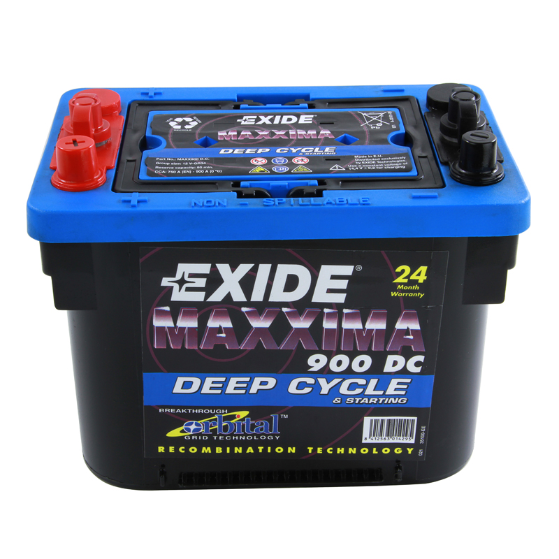 exide agm gel car battery type max900dc 2 year warranty ebay. Black Bedroom Furniture Sets. Home Design Ideas
