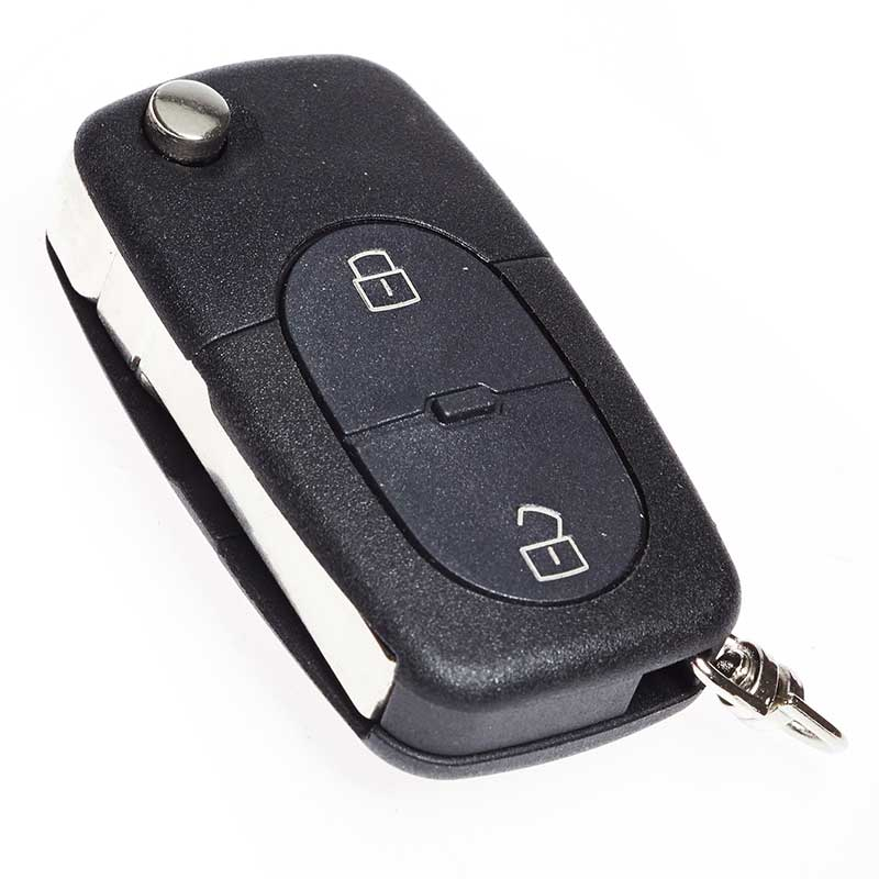 Key Fob Blade 2 Button Large Battery Alarm Switch Audi A8