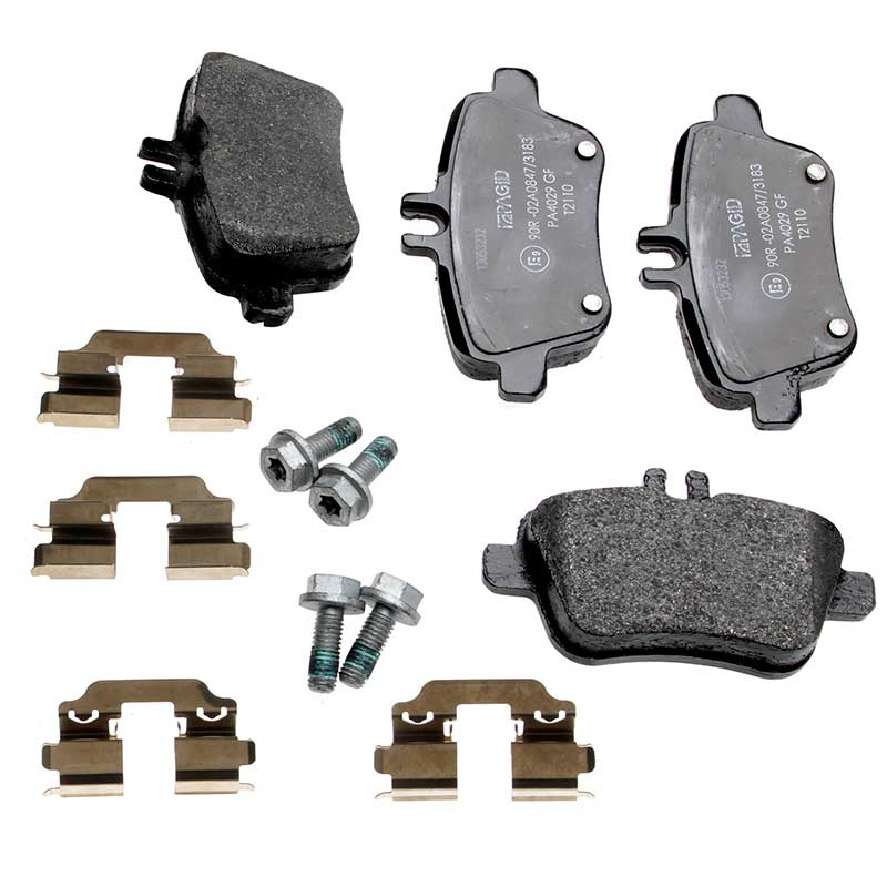 Mercedes benz b class pagid rear brake pads set trw for Mercedes benz rotors and pads