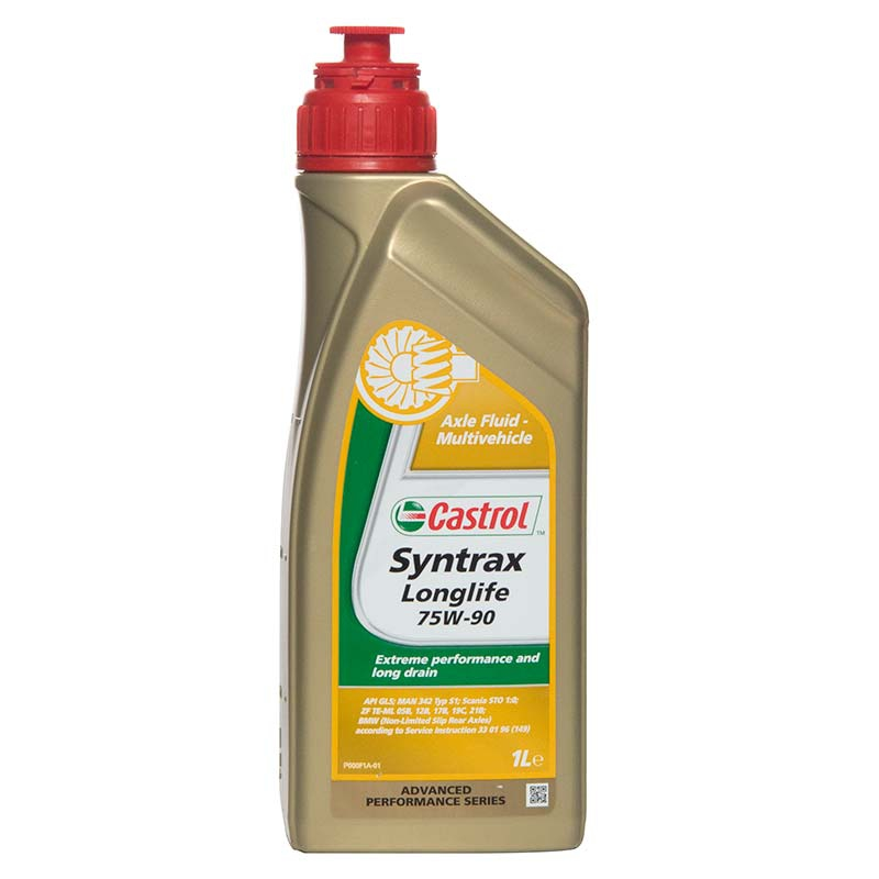 1 litre 1l castrol syntrax long life 75w 90 multivehicle axle fluid ebay. Black Bedroom Furniture Sets. Home Design Ideas