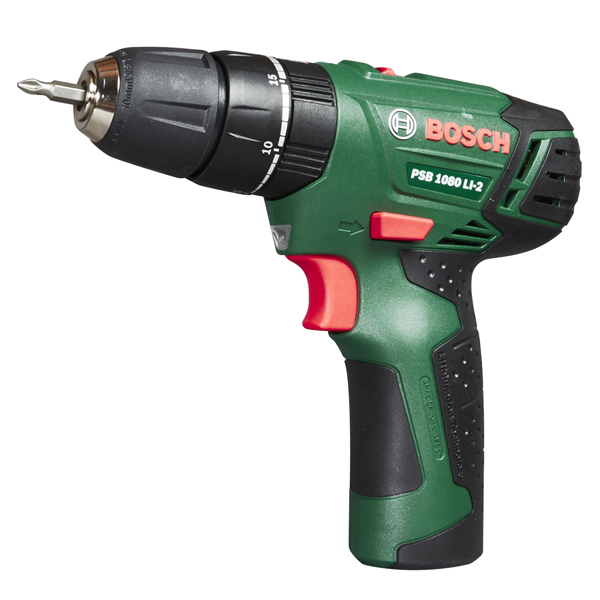 cordless hammer drill integrated 1 5ah battery power tool bosch psb 1080 li 2 ebay. Black Bedroom Furniture Sets. Home Design Ideas