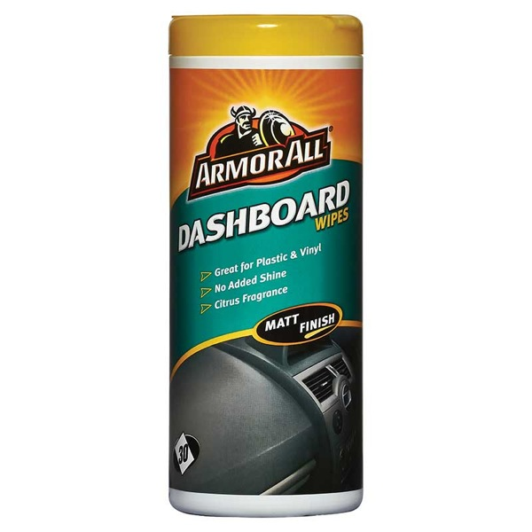 dashboard wipes in matt pack of 25 wipes interior car cleaning shine armor all ebay. Black Bedroom Furniture Sets. Home Design Ideas