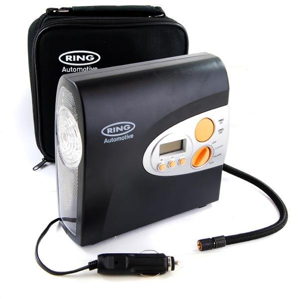 ring rac600 12v digital air compressor car tyre inflator. Black Bedroom Furniture Sets. Home Design Ideas