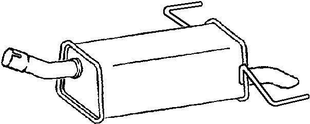 klarius  gm475d  exhaust rear back box vauxhall astra h