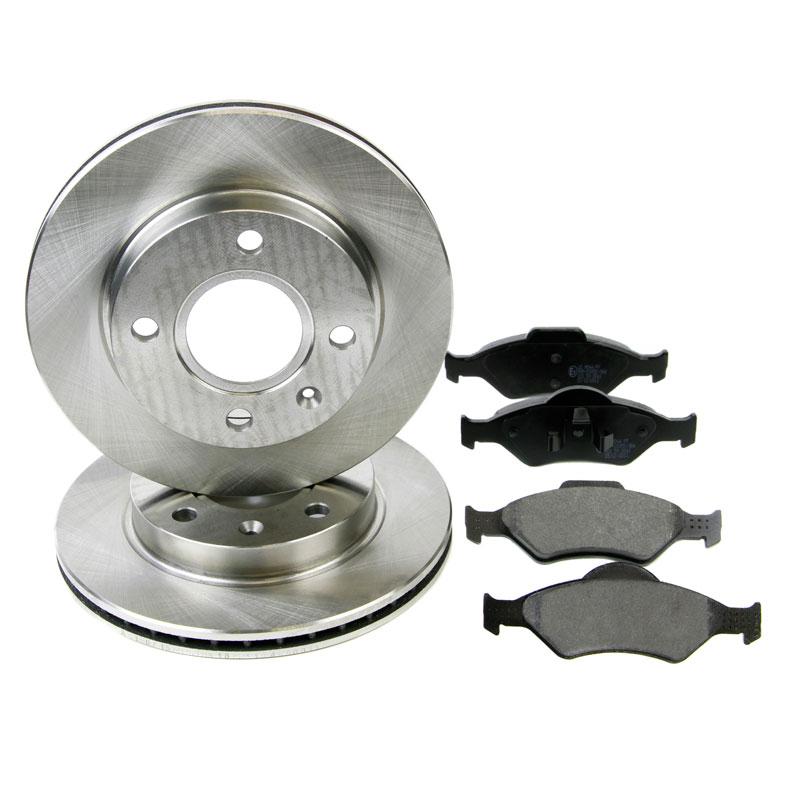 front brake kit discs pads eicher ford ka fiesta courier ebay. Black Bedroom Furniture Sets. Home Design Ideas