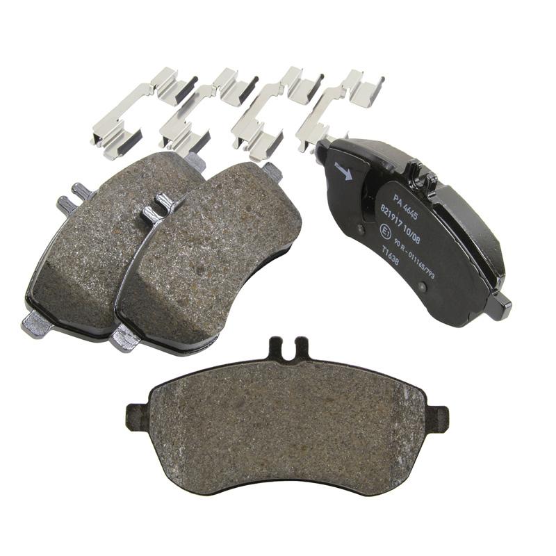 Pagid front brake pads set lucas system mercedes benz e for Mercedes benz c300 brake rotors