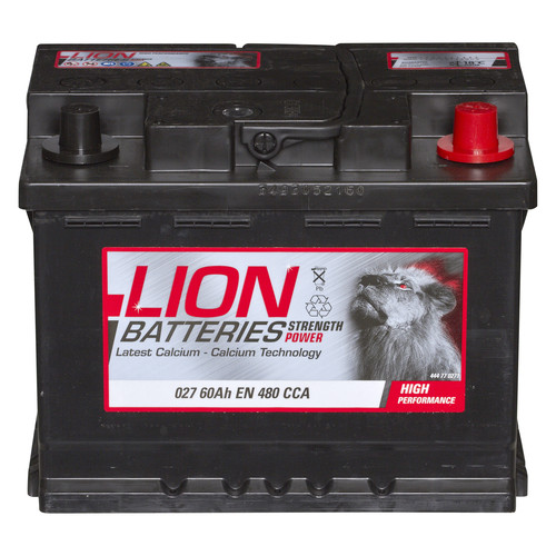 lion batteries car battery 12v 60ah type 027 480cca sealed 3 years warranty ebay. Black Bedroom Furniture Sets. Home Design Ideas