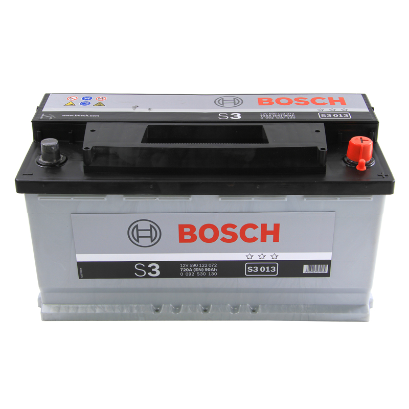 bosch car battery 12v 90ah type 017 720cca 3 years wty. Black Bedroom Furniture Sets. Home Design Ideas
